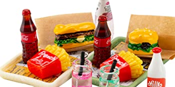 Cute miniature food and drink set