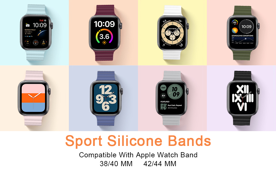 Sport band compatible with apple watch series 6/5/4/3/2/1/SE