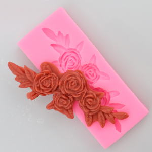 HengKe 2 Pieces Four Roses Candy Silicone Mold
