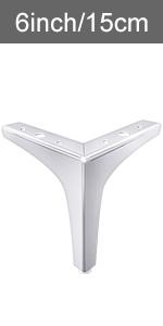 Metal furniture legs (Silver) 1