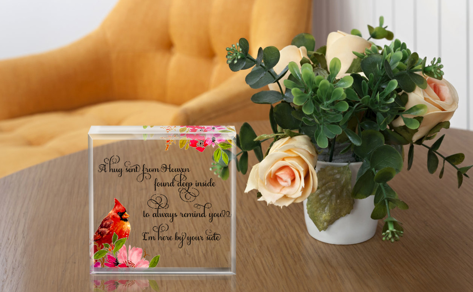 Red cardinal gifts Sympathy Gifts for Loss of Mother Father, Memorial Gifts for Loss of Loved One