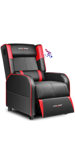 GTRACING gaming recliner chair red