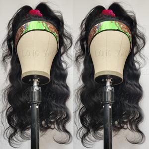 LONG YAO Headband Wigs For Black Women Human Hair Body Wave Headband Wig Human Hair Body Wave