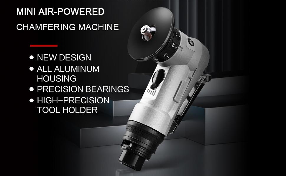 mini air-powered chamfering machine