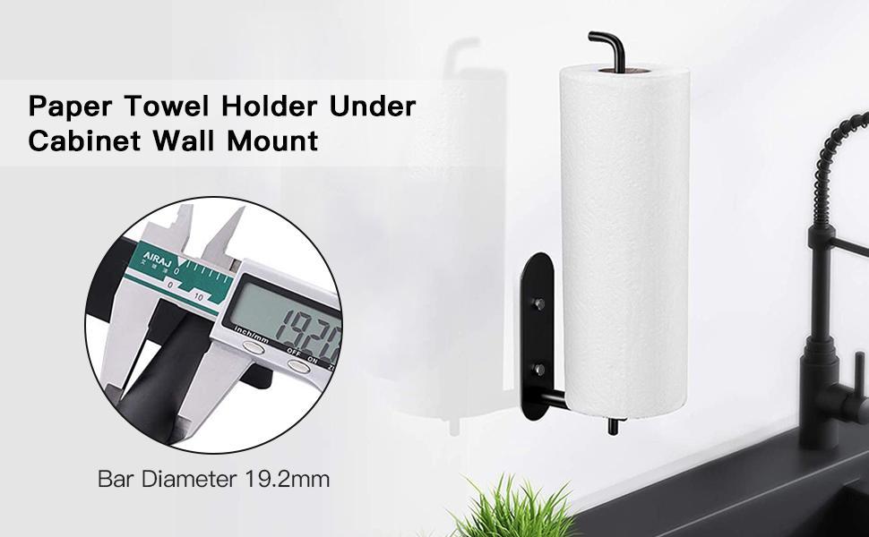Paper Towel Holder Under Cabinet Wall Mount