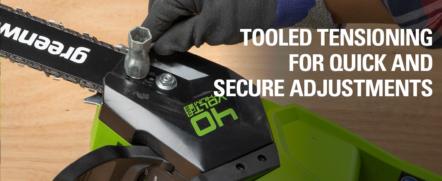 tooled tensioning for quick and secure adjustments