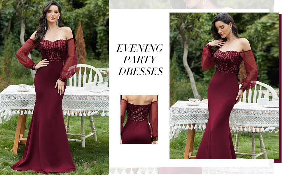 Ever-Pretty Womens long formal dresses party dresses evening dresses bridesmaid dresses with sleeves