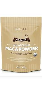 gelatinized maca powder packet