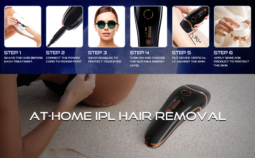 At home laser hair remvoal device