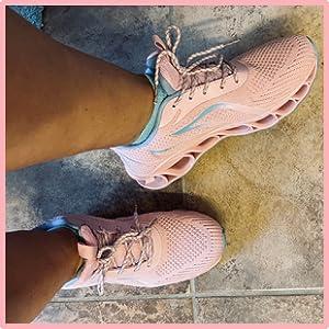 pink women fashion sneakers