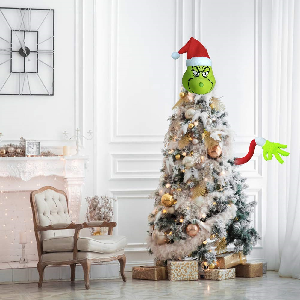 grinch head and arms for tree