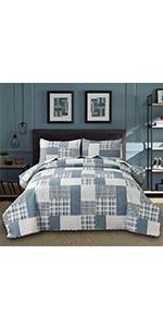 plaid bedspread
