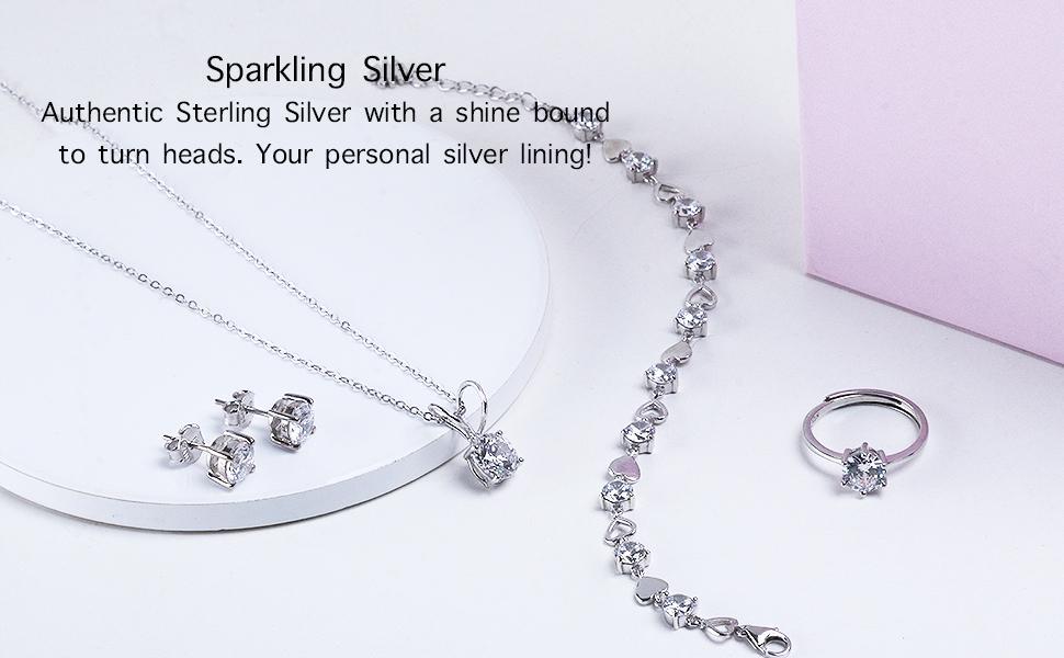sterling silver earrings sterling silver ring sterling silver bracelets women  sterling silver 92.5