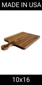 10x16 hard wood cutting board with handle