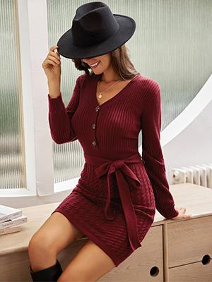 KANCY KOLE Bodycon Sweater Dress for Women