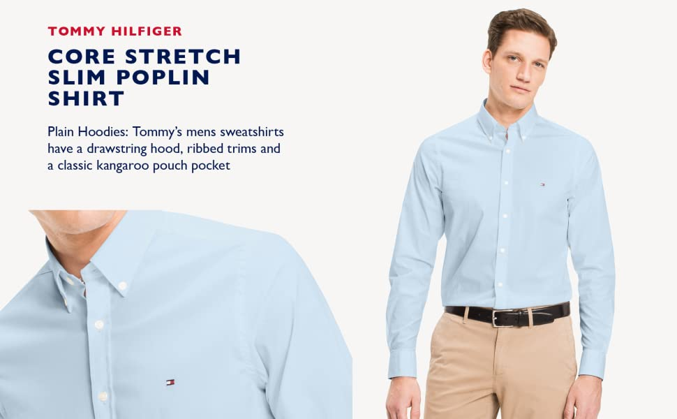 Core Stretch Slim Poplin Shirt