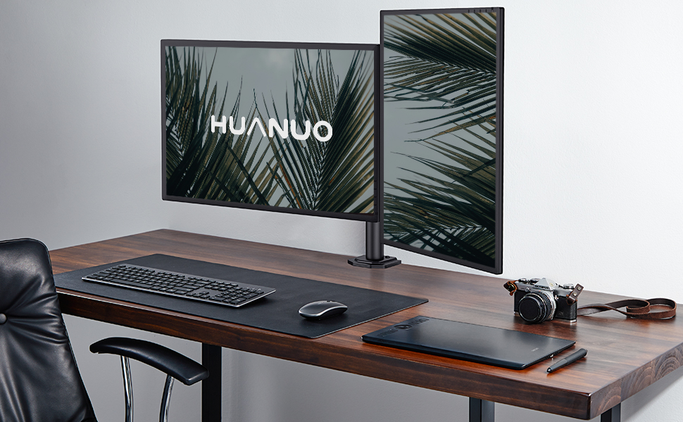 huanuo dual monitor stand arm mounting