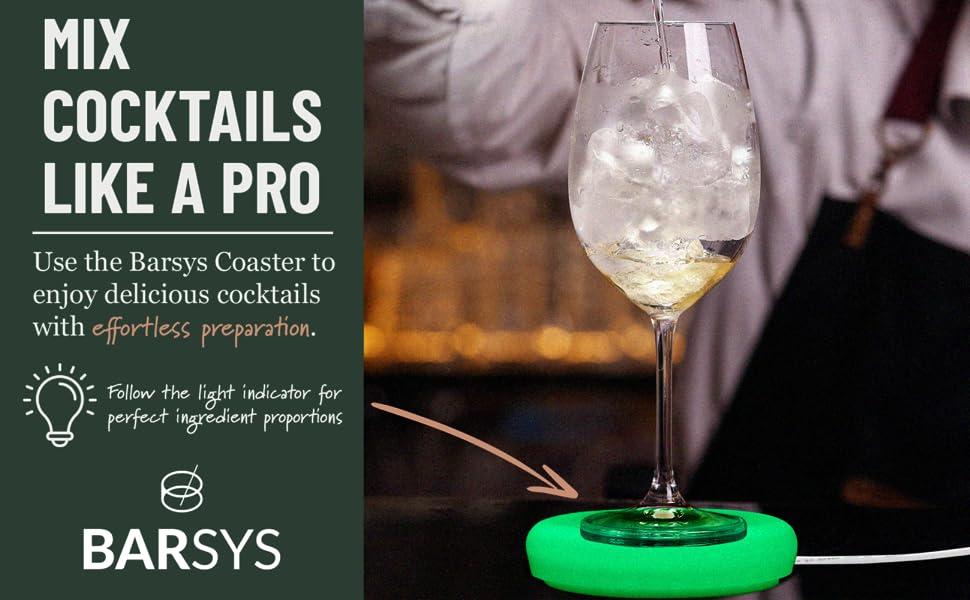 Barsys Coaster - Cocktail Maker - Home Bar Cocktail Kit