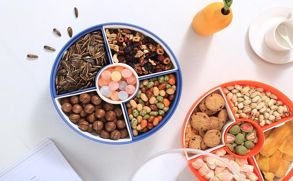 Serving snack tray