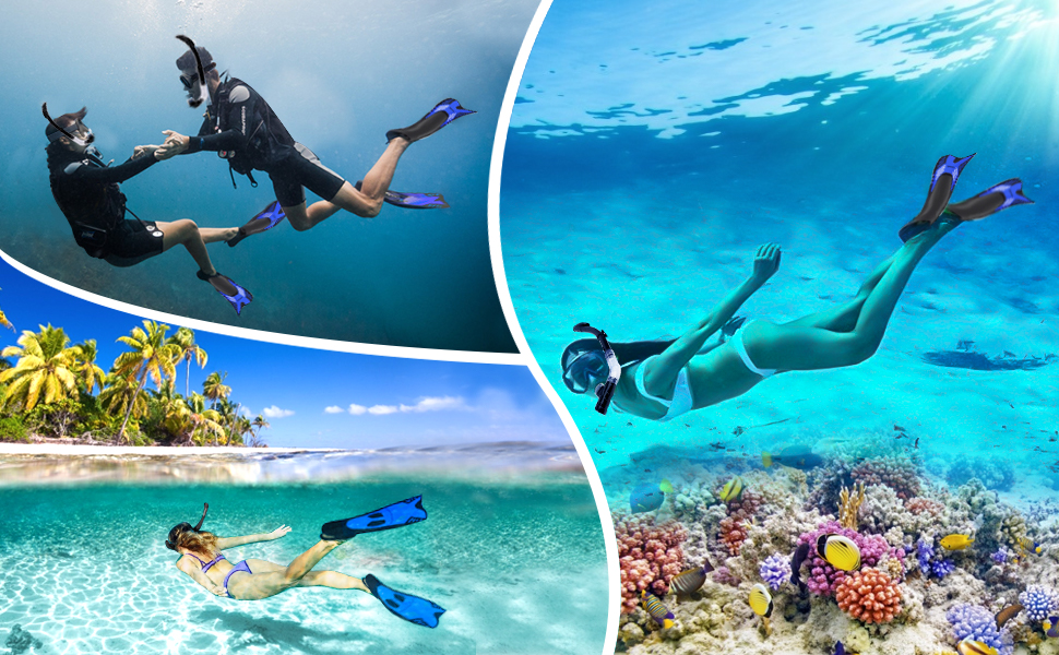 snorkeling gear for adults with fins