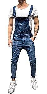 Denim Bib Overalls black overalls men overall pants men denim jumpsuit Men Slim Patch Pocket Denim