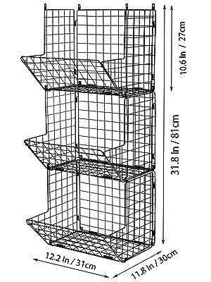 3 tier wire storage basket