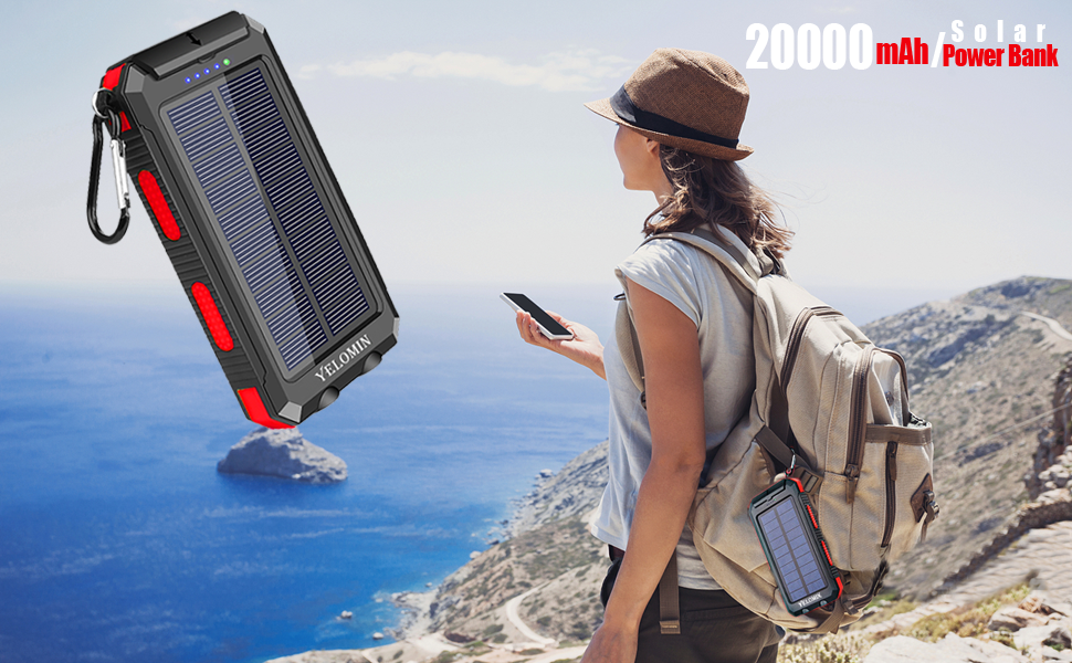 Solar power bank provides more convenience in your daily or in your trip.