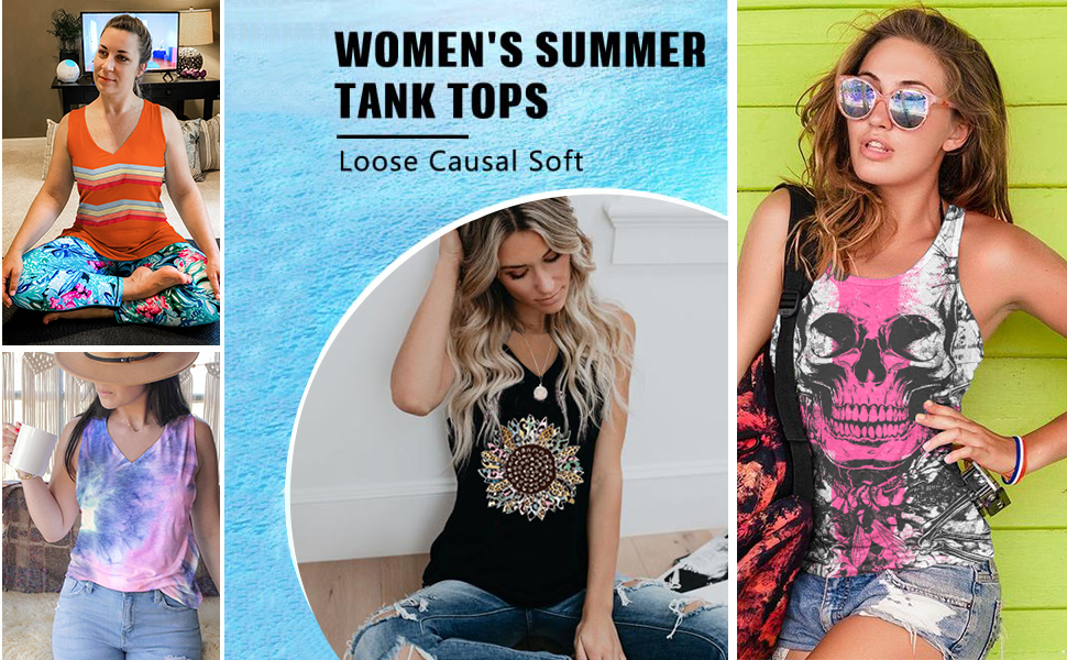 tank tops for women loose casual