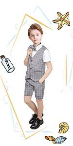 Gentleman Infant Formal Dress Tuxedos Boy Outfit Set