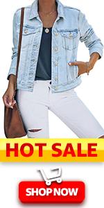 women denim jacket for women fashion summer fall Denim jean jacket