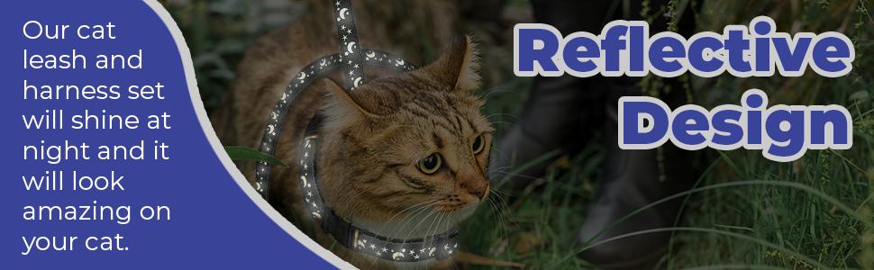cat harness reflective