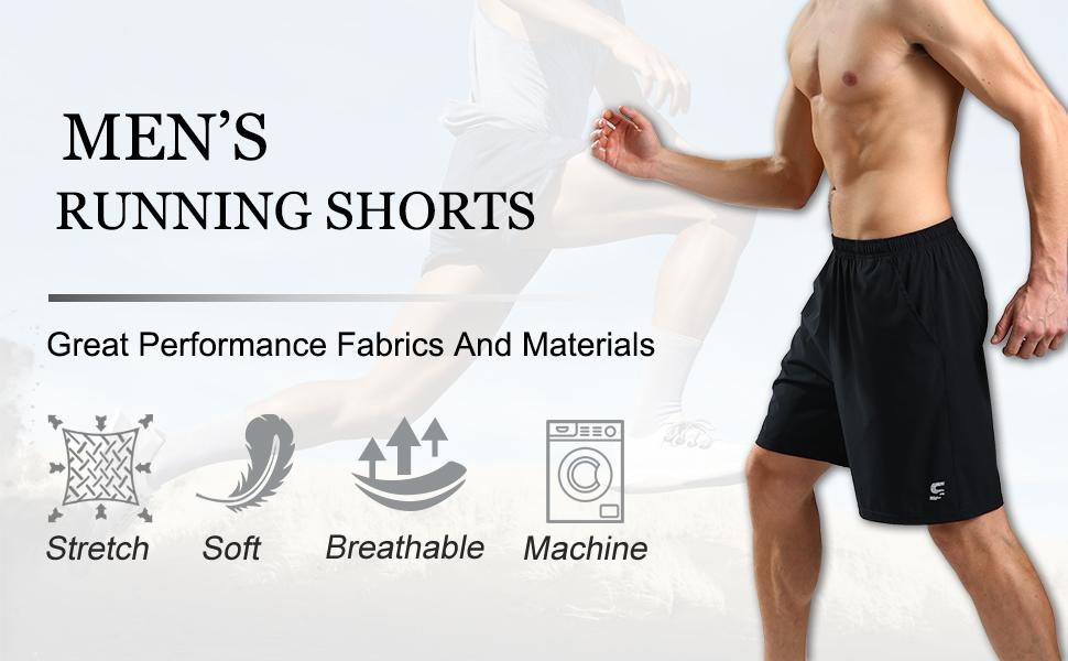 SS COLOR FISH Men Running Shorts with Pockets,Sports Shorts for Men Workout Gym Athletic Basketball Shorts for Men