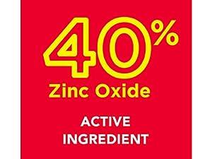 40% Zinc Oxide As Active Ingredient