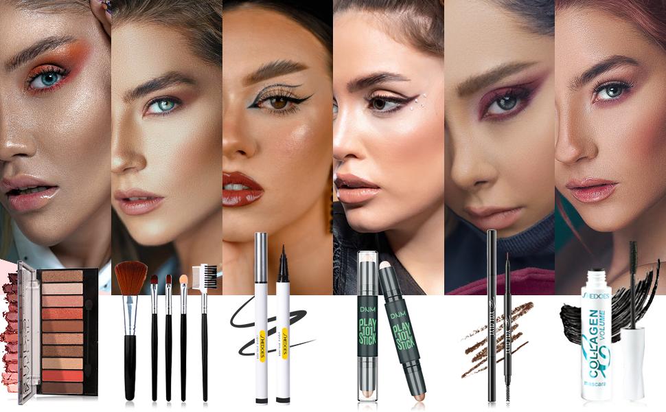 set de maquillaje para mujer, make up kits for teen girls,makeup kit for women full kit