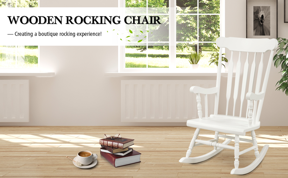 Rocking Chair Solid Wooden Frame