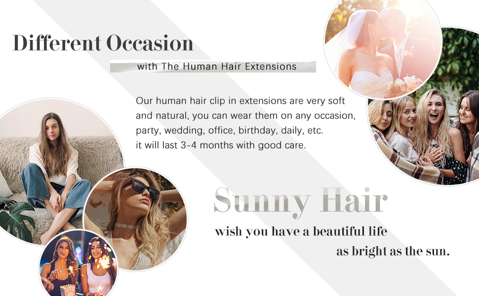 real hair extensions clip in human hair