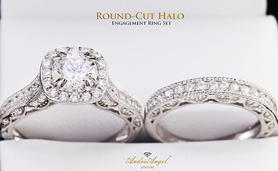 Engagement Ring Round-Cut