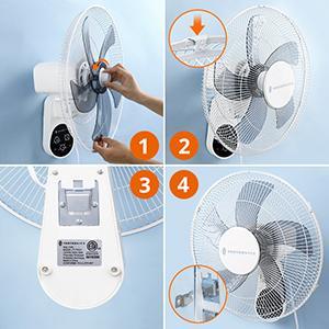 Wall Mount Oscillating Fan