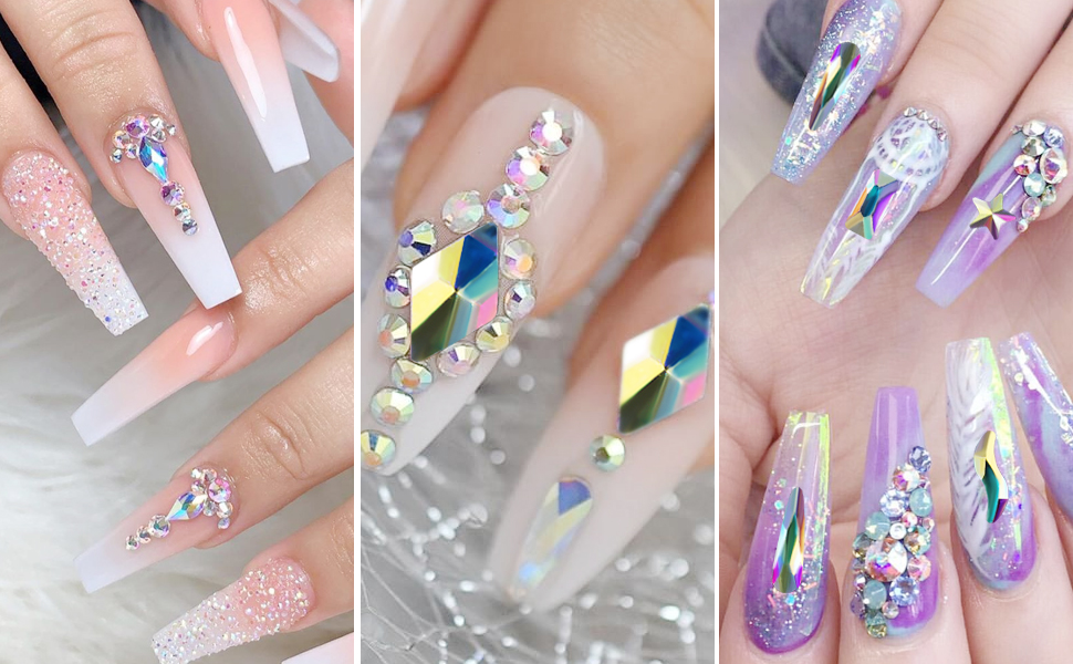 nail diamonds rinestones set  nail art jewels