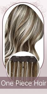 one piece hair