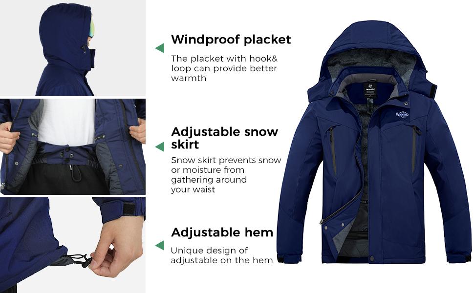 Wantdo Men's Skiing Jacket