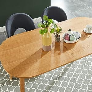 placage bois, chêne, plateau table