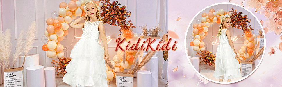 Kidikidi Baby Girl Dresses Pageant Party Wedding Flower Girl Dress
