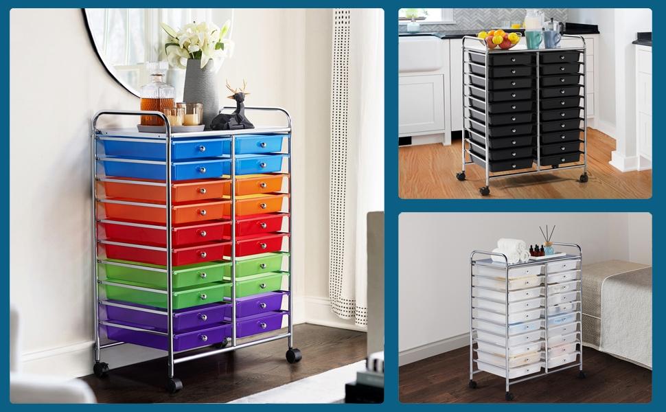 20-Drawer Cart Storage Bin