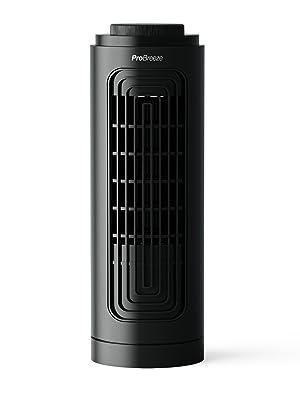 pro breeze ventilateur de table de bureau tour colonne noir fin design compact probreeze