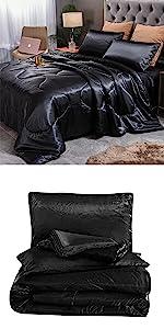 Black Silk Comforter