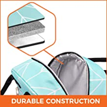 large capacity main compartment with double zippers