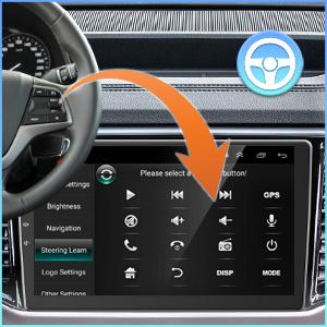 steering wheel control 2 din car radio receiver