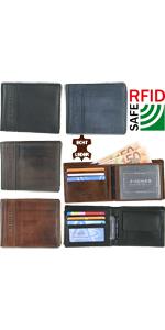 Herren Geldbörse Leder Geldbeutel mit rfid-schutz portemonnaie großes portmonee für männer