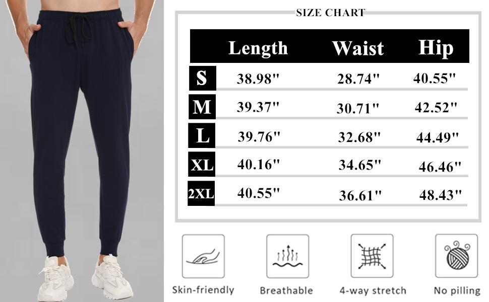 Vlazom Men's Cotton Jogging Bottoms Slim Fit